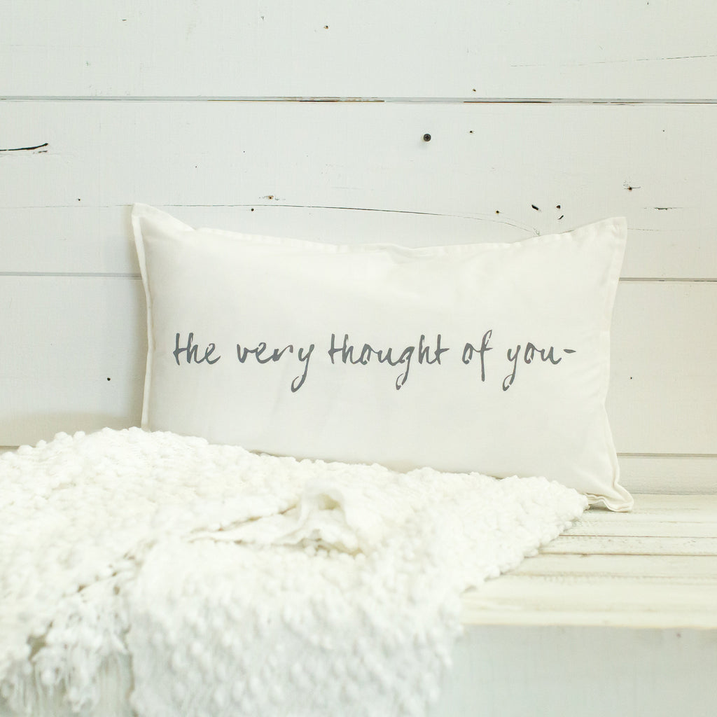 """the very thought of you"" Lumbar pillow"