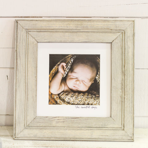 Bead Board Frame 10x10 with writing