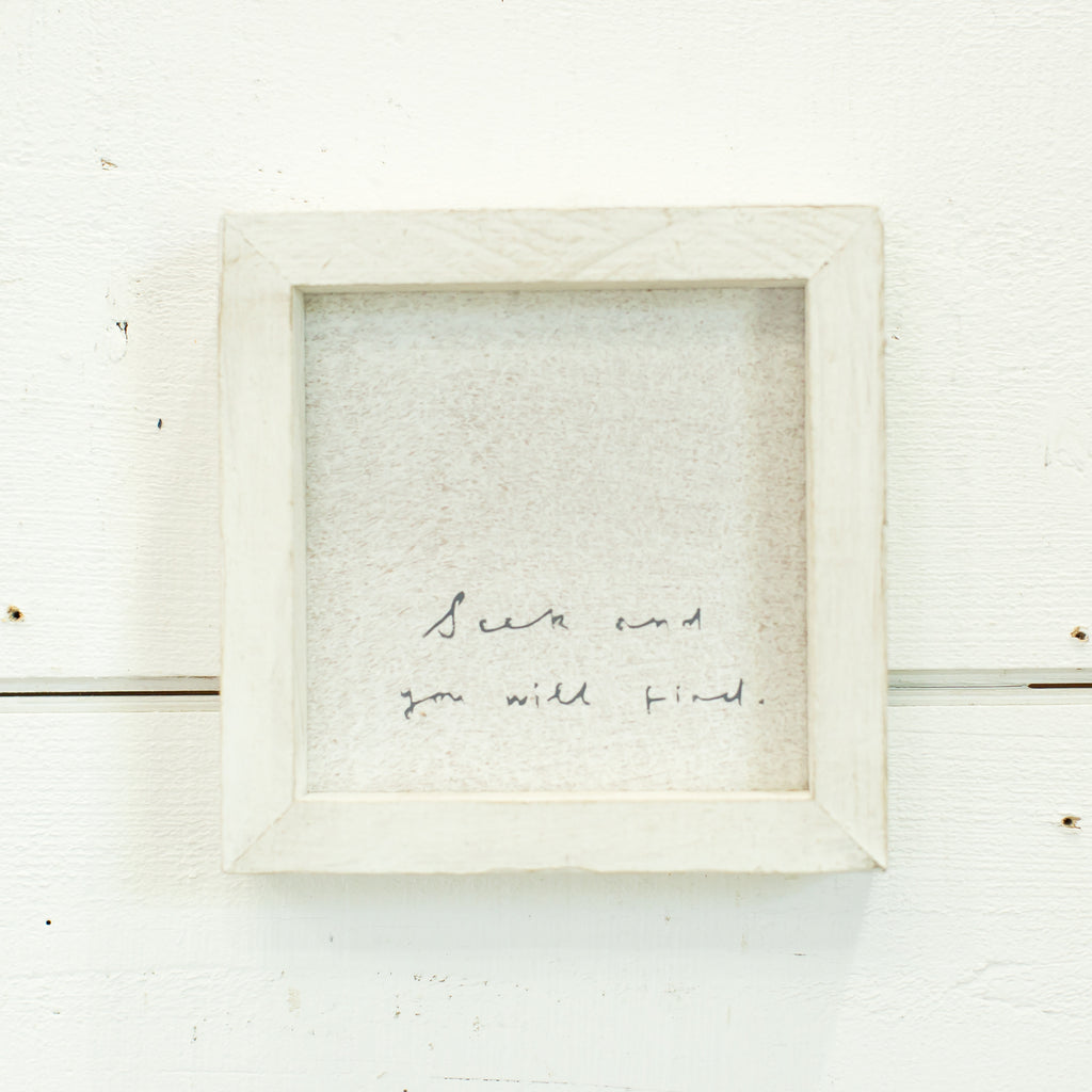 """seek and you will find"" petite word board"