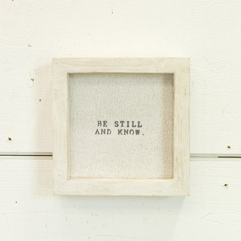 """be still and know"" petite word board"