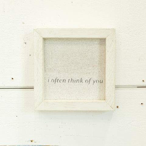 """i often think of you"" petite word board"