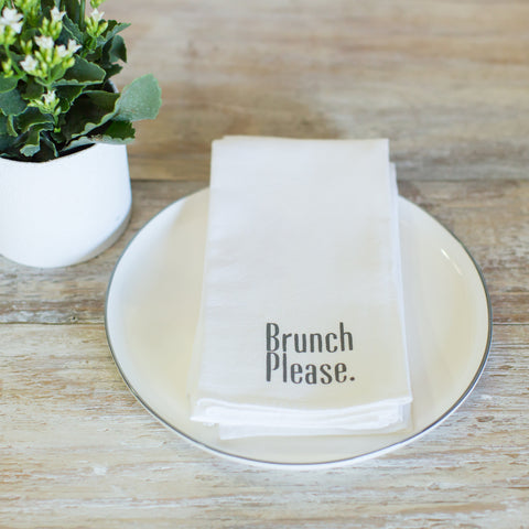 "Flour sack ""brunch please"" napkins"