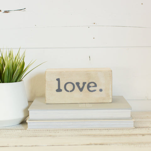 """LOVE"" Shelf Block"