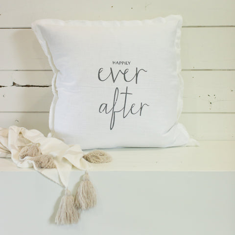 """Happily ever after"" Large Pillow"