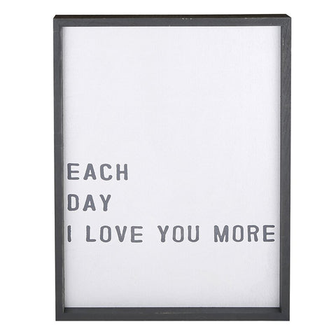 "EACH DAY I LOVE YOU MORE"" CADET BOARD"