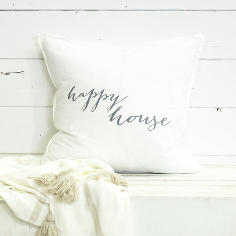 """Happy House"" Large Pillow"