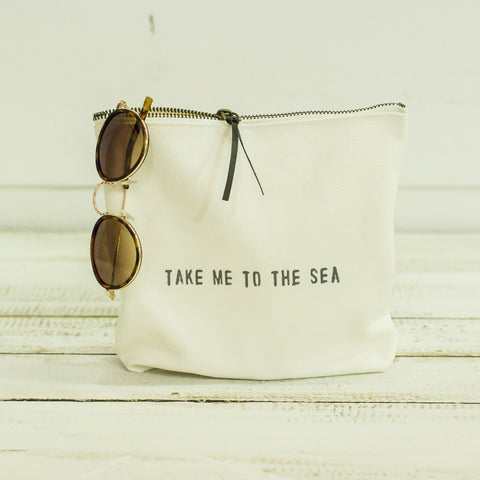"""take me to the sea"" pouch"