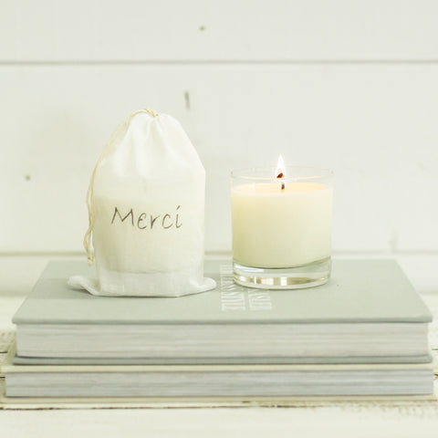 """merci"" Candle"