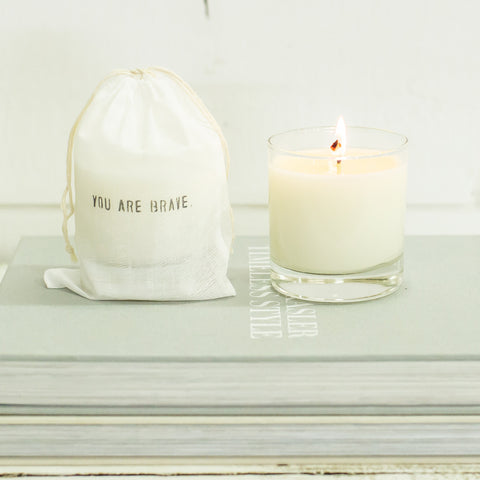 """You are Brave"" Candle"