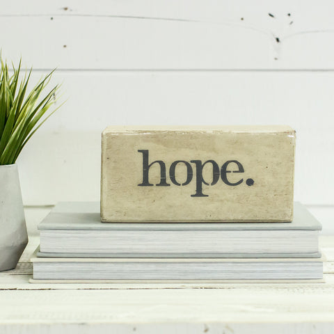 """HOPE"" Shelf Block"