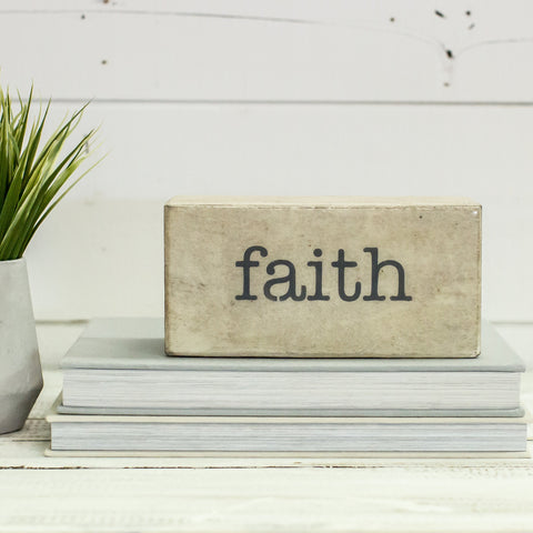 """FAITH"" Shelf Block"