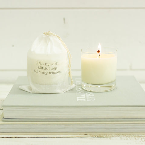"""I get by with a little help from my friends"" Candle"