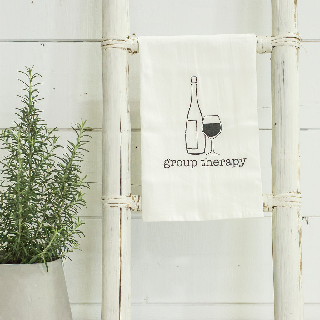 """Group therapy"" flour sack towel"