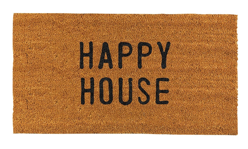 """HAPPY HOUSE"" DOORMAT"