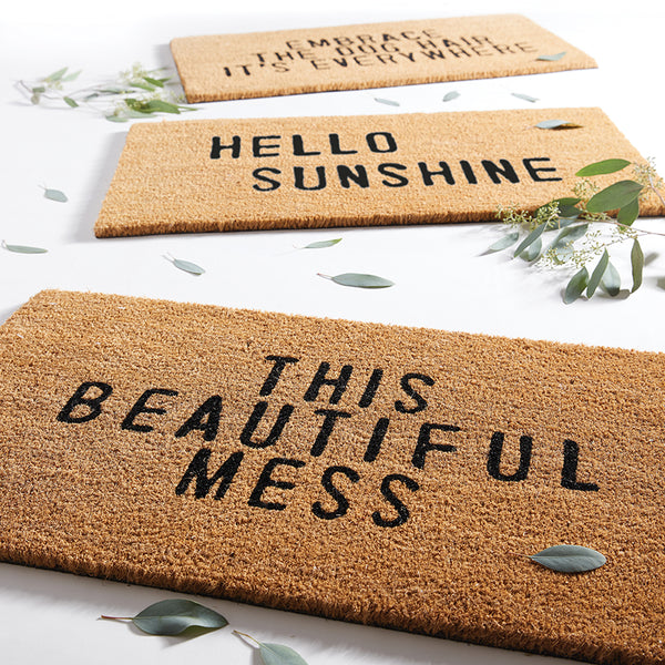 """HELLO SUNSHINE"" DOORMAT"