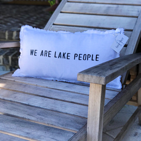 """We Are Lake People"" Lumbar Pillow"