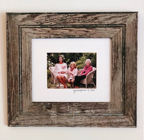 Bead Board Frame 8x10 with writing