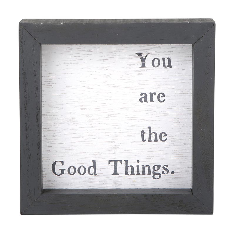"""you are the good things"" petite word board"
