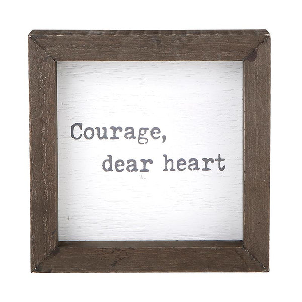 """Courage, Dear Heart"" Petite Word Board"