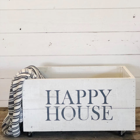 """Happy House"" Rolling Crate"