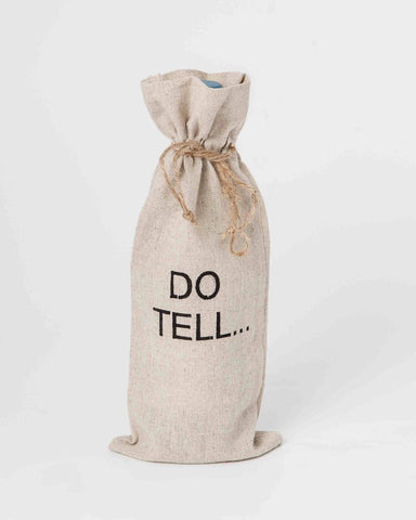 "set of 2 wine bags- ""Do Tell..."""