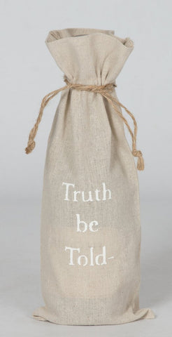 "set of 2 wine bags- ""Truth Be Told"""