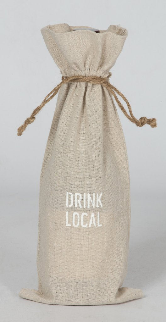 "Set of 2 wine bags- ""Drink Local"" Essential 2020"