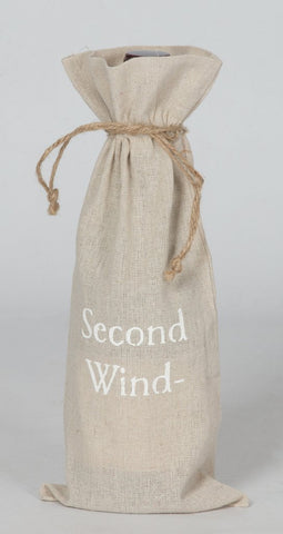 "set of 2 wine bags- ""Second Wind-"""