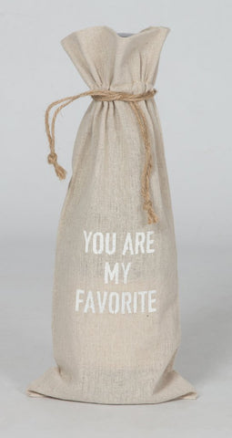 "set of 2 wine bags- ""You are my favorite"""