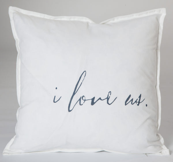 """I love us""  Large Pillow"