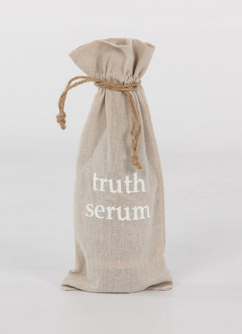 "set of 2 wine bags- ""Truth Serum"""