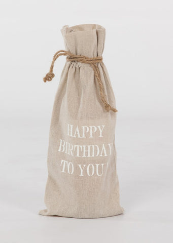 "set of 2 wine bags- ""Happy Birthday to You"""