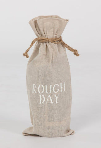 "set of 2 wine bags- ""Rough Day"""