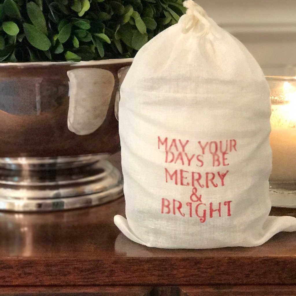 """may your days be merry & bright"" candle"