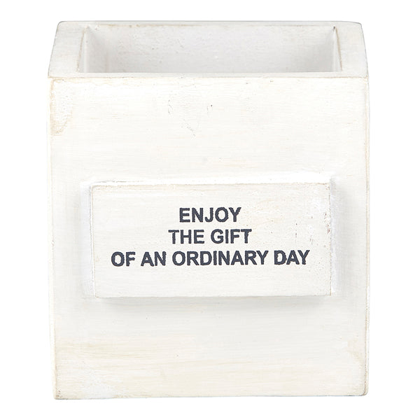 """enjoy the gift of an ordinary day"" Nest Box"