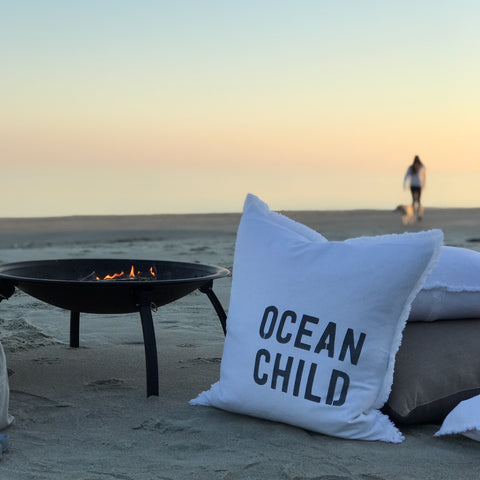 """Ocean Child"" Large Pillow"