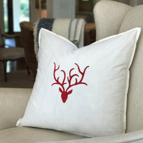 """antlers"" Large Pillow"