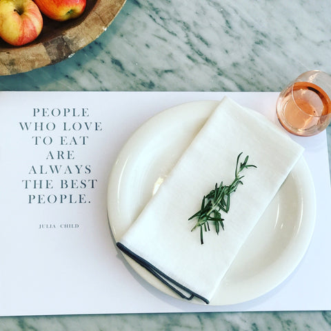 "Paper Placemats- ""People who Love to Eat...""- Pad of 50 Placemats"