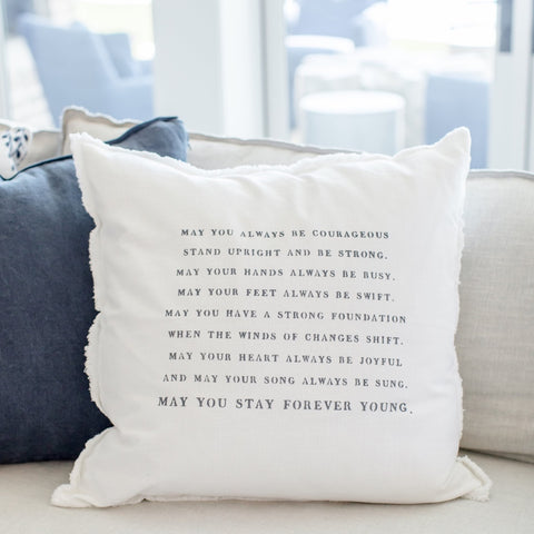"""Forever young"" Large Pillow"