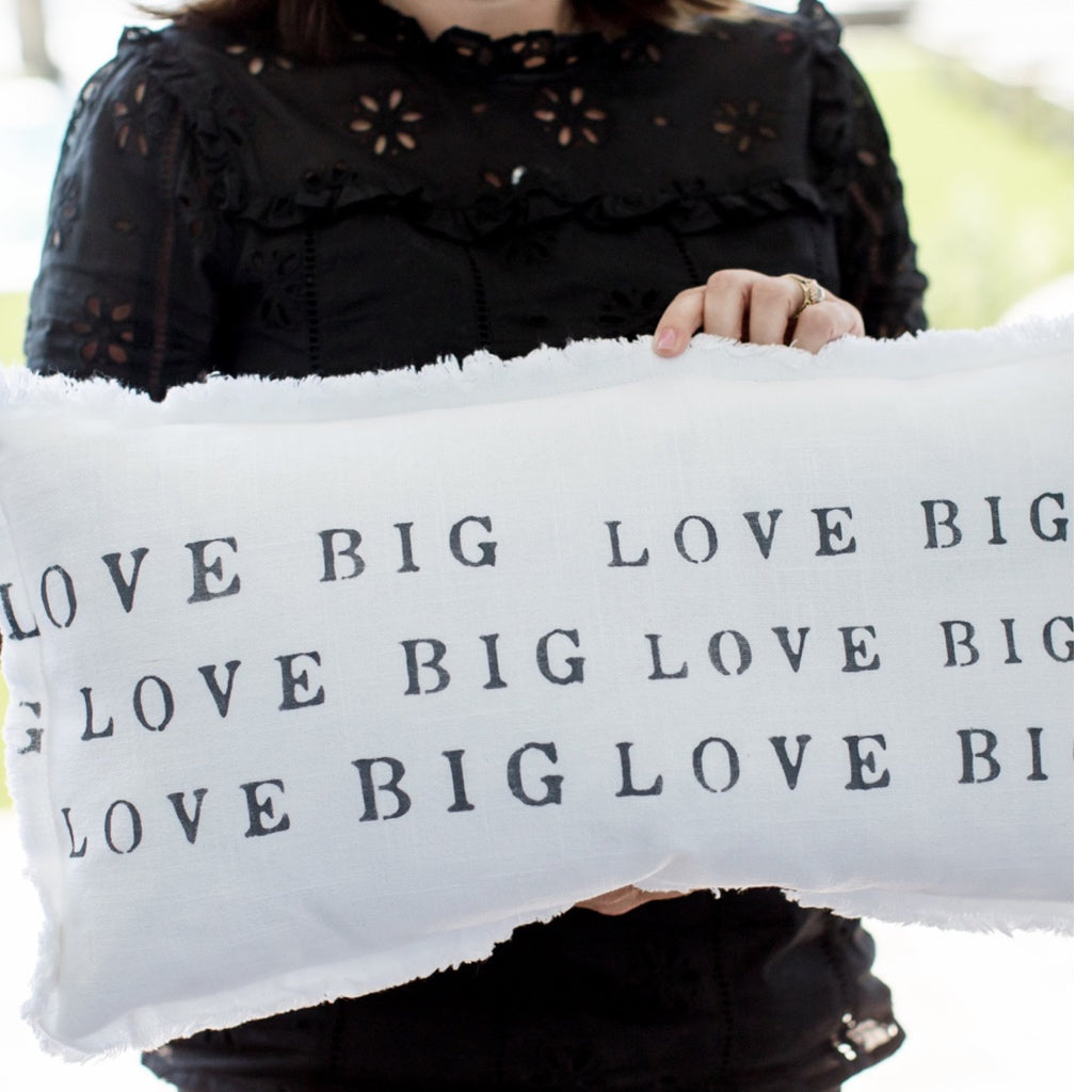 """Love Big, Love Big"" Lumbar Pillow"