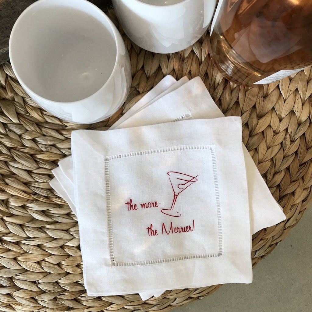 """the more the merrier"" beverage napkins"