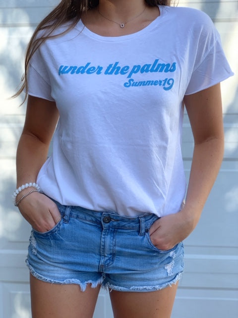 """Under the palms Summer 19"" tee"