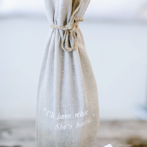"""I'll have what she's having"" wine bag"