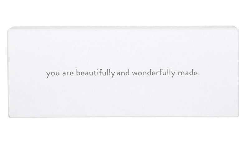 "YOU ARE BEAUTIFULLY AND WONDERFULLY MADE"" SMALL CASE BOARDS"