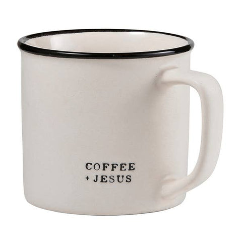 """COFFEE AND JESUS"" COFFEE MUG"