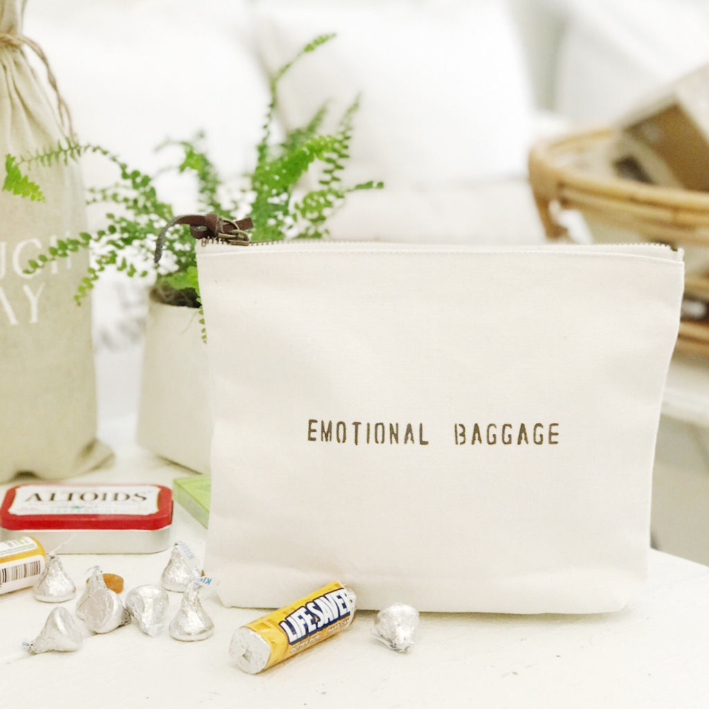 """Emotional baggage"" pouch"
