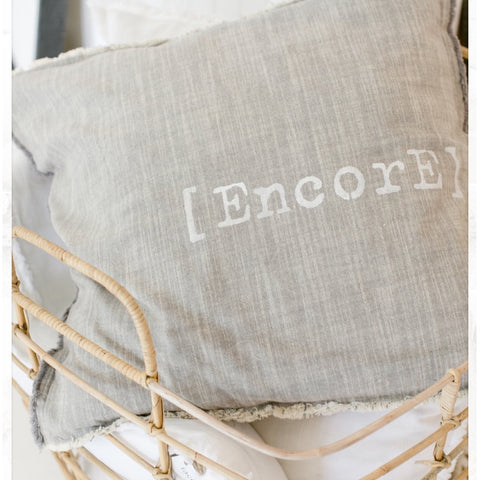 """ENCORE"" Large Pillow"