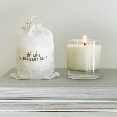"""enjoy the gift of an ordinary day"" Candle"