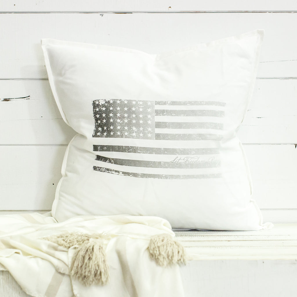 """flag"" Large Pillow"