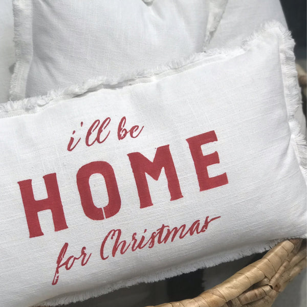 Ill Be Home For Christmas.I Ll Be Home From Christmas Lumbar Pillow